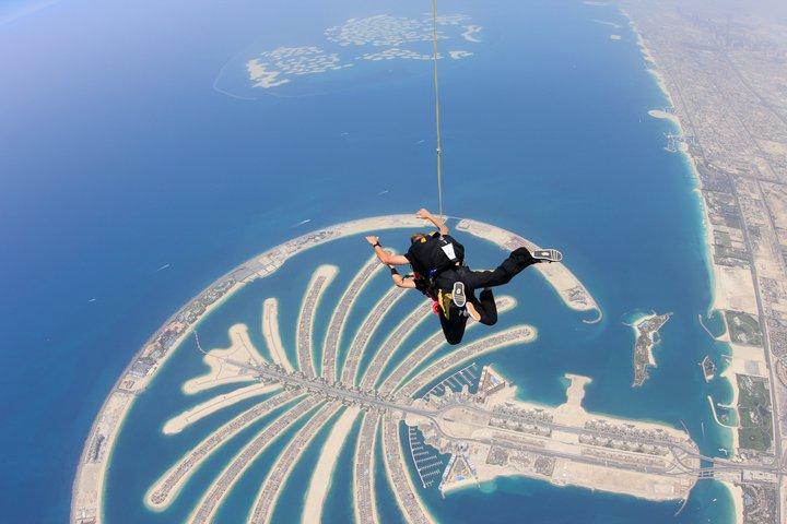 Skydive Dubai - leaving the plane