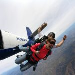 Freefalling while skydiving