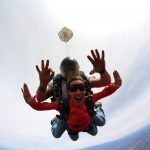 Smiling in the air, Skydiving, San Diego
