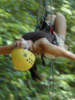 Susan on Tarzan swing, Titi
