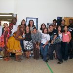 Erin Gruwell with some Freedom Writers
