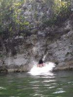 Splashdown in a cenote