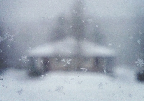 Winter in Canada, snowflakes