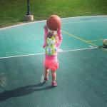 Playing ball at Newport Coast Villas