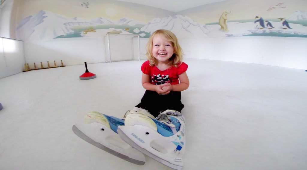 Skating at Kinderhotel, Germany