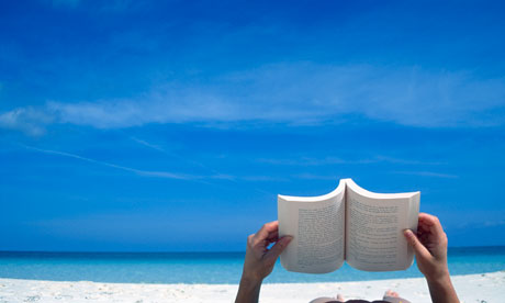 Travel Books - Reading on the Beach