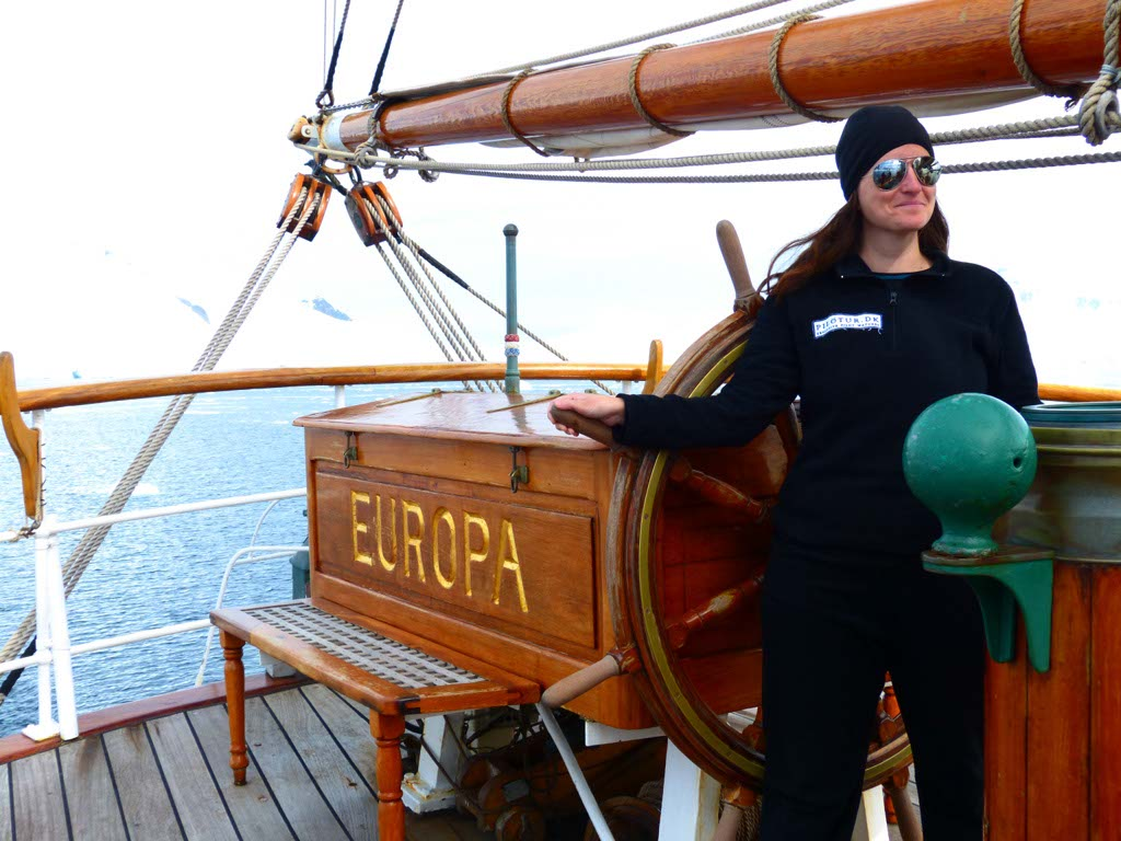 At the Helm on Bark Europa