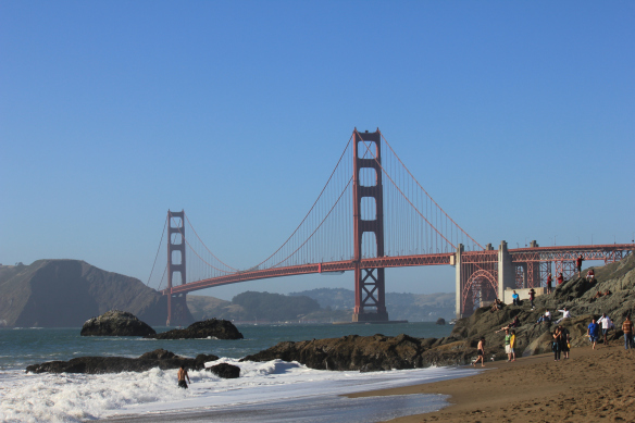 Golden Gate Bridge in San Francisco Bay, California