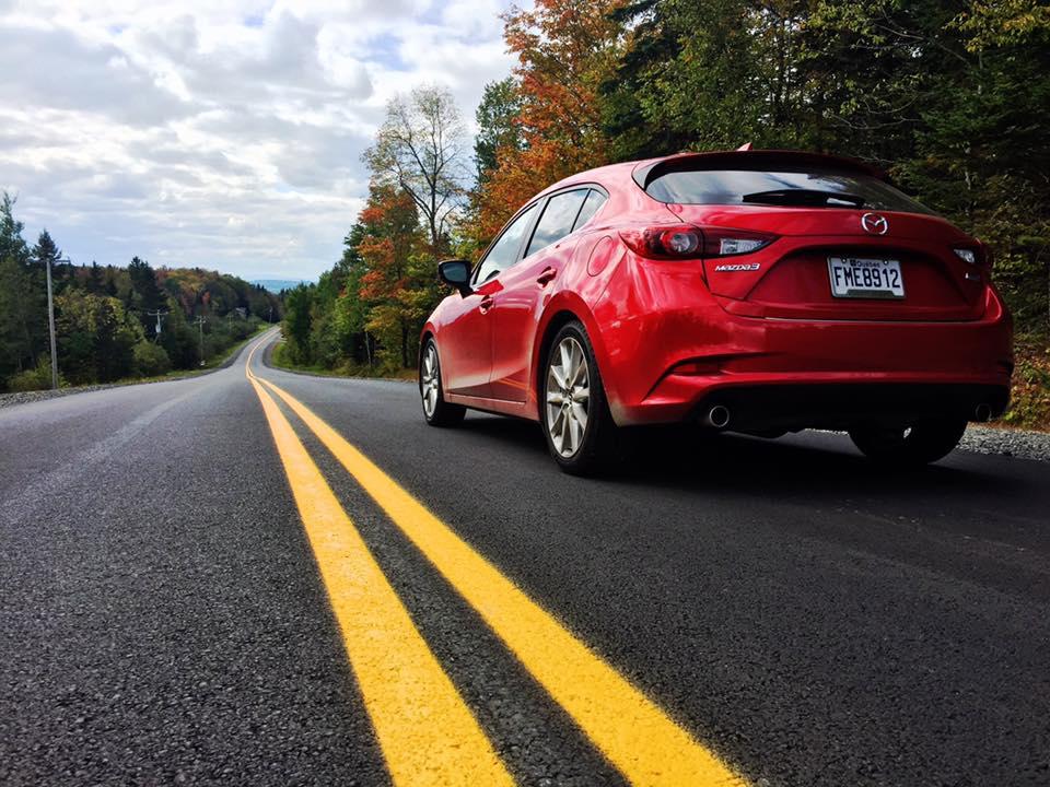 Coaticook road trip in the Mazda3