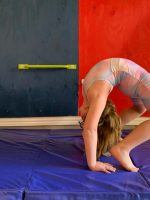 Thick Folding Panel Gymnastics Mat from Costway
