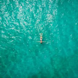 aerial-view-of-person-in-body-of-water